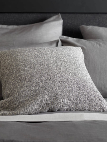 Laundered Graphite Grey Cushion Cover