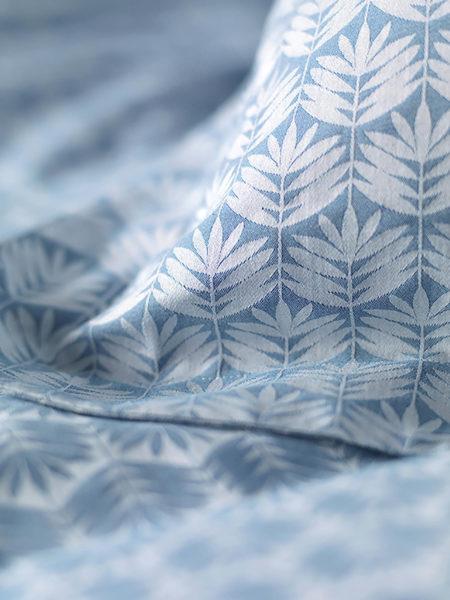 Leafy Turquoise Pillowcase