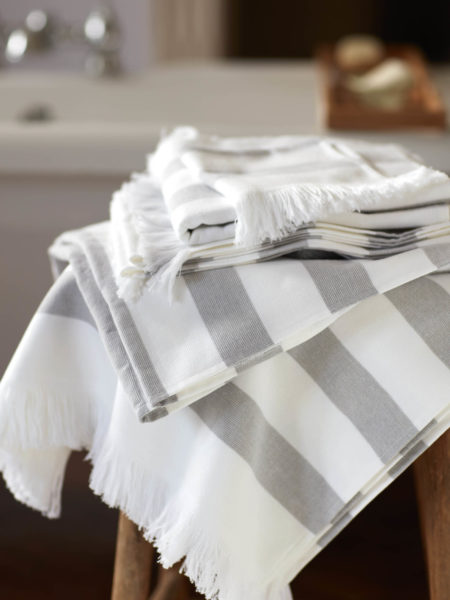 Light Grey Stripe Towels