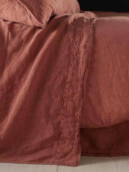 Spice 100% Linen Flat Sheet