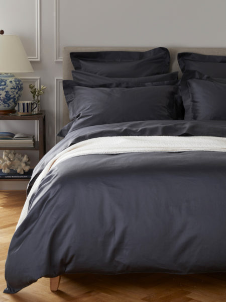 Luxury 600 Thread Count Ink Blue Duvet Cover