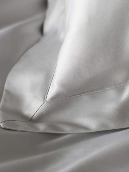 Luxury 600 Thread Count Light Grey Oxford Pillowcase