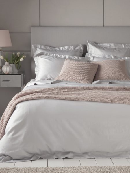 Luxury 600 Thread Count Light Grey Duvet Cover