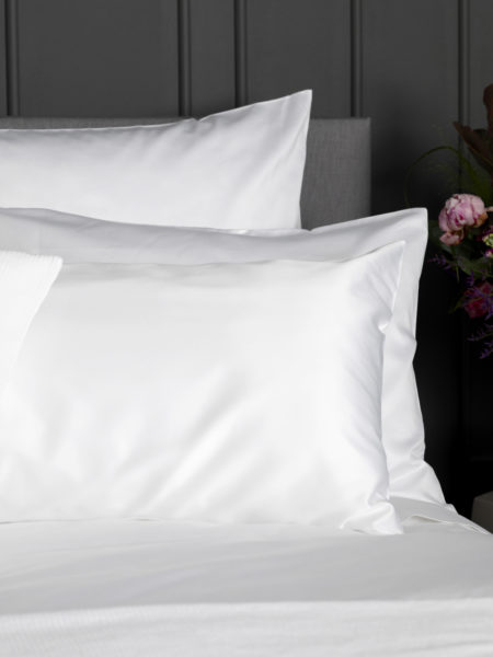 Luxury 600 Thread Count White Housewife Pillowcase