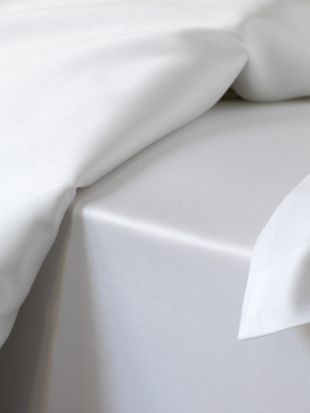 Luxury 600 Thread Count White Euro Fitted Sheet