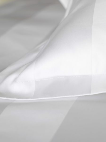 Luxury 600 Thread Count White Stripe Pillowcase