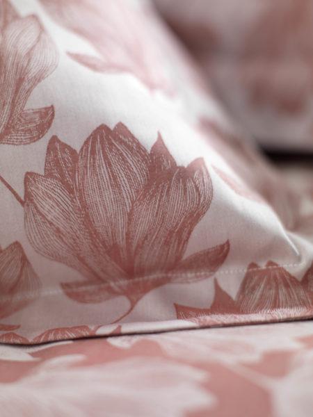 Magnolia Red Pillowcase