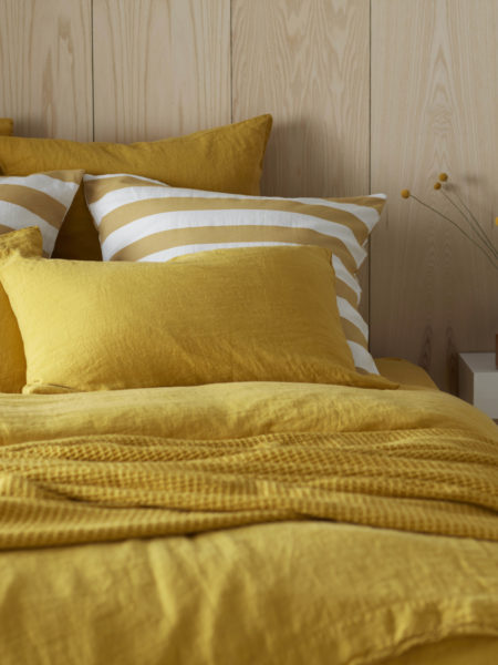 Mustard Yellow 100% Linen Pillowcase