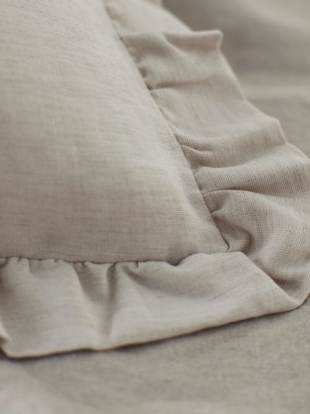 Natural Linen Frilled Pillowcase