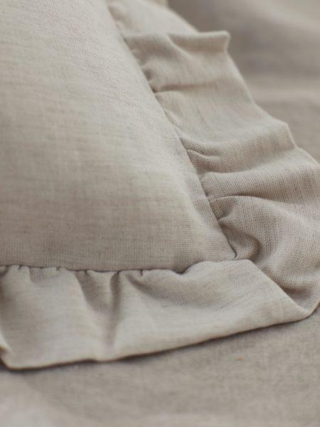 Natural Linen Frilled Pillowcase