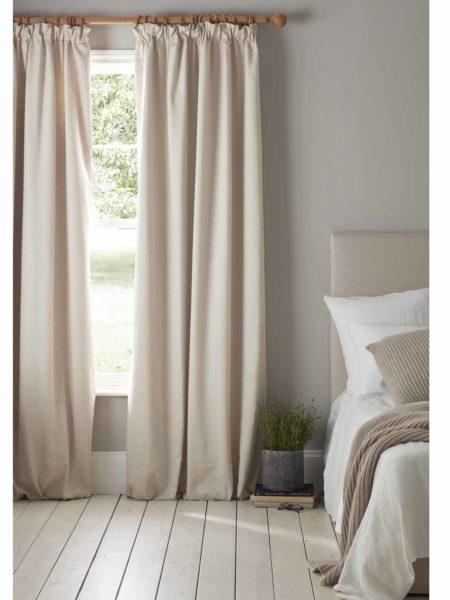 Relaxed Denim Natural Linen Blackout Curtains (Pair)