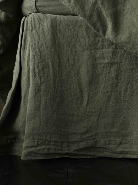 Olive Green 100% Linen Valance