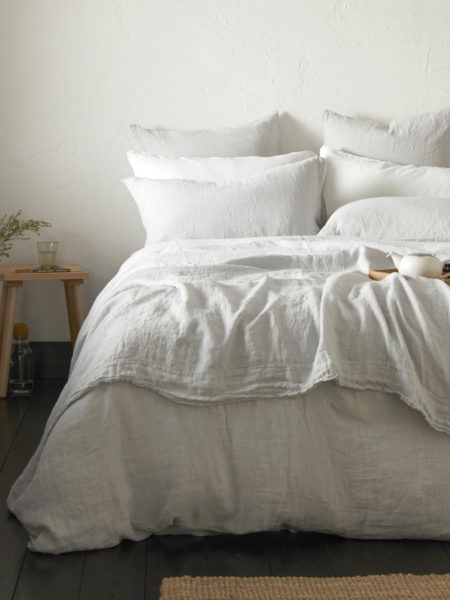 Pebble Grey 100% Linen Bed Linen