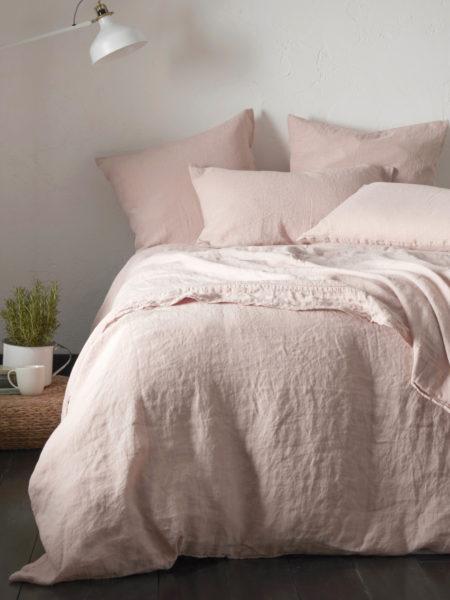Blush Pink 100% Linen Bed Linen