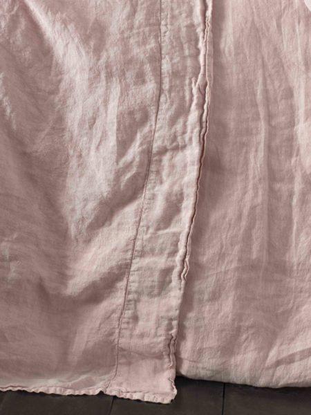 Blush Pink 100% Linen Flat Sheet