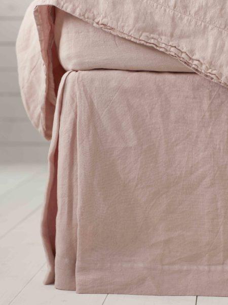 Blush Pink 100% Linen Valance