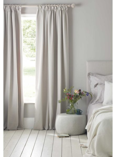 Relaxed Denim Dove Grey Blackout Curtains