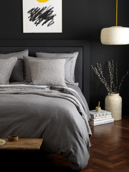 Relaxed Denim Graphite Grey Duvet Cover