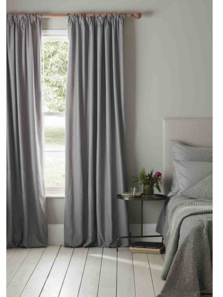 Relaxed Denim Graphite Grey Blackout Curtains