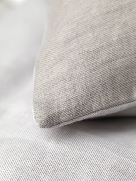 Relaxed Denim Natural Linen Flat Sheet