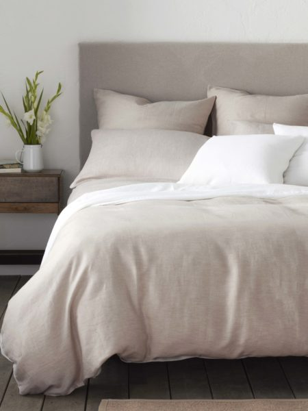 Relaxed Denim Natural Linen Duvet Cover
