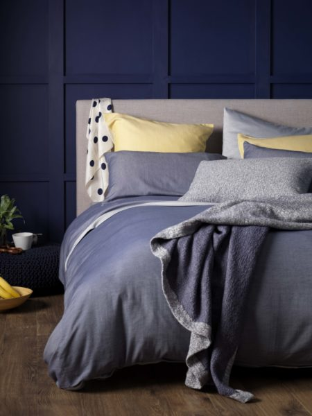 Relaxed Denim Navy Bed Linen