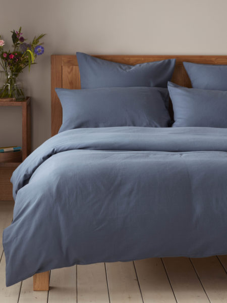 Relaxed Denim Slate Blue Duvet Cover 100 Cotton