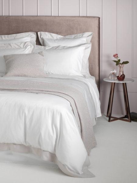 Sateen Oyster Border Bed Linen Secret Linen Store