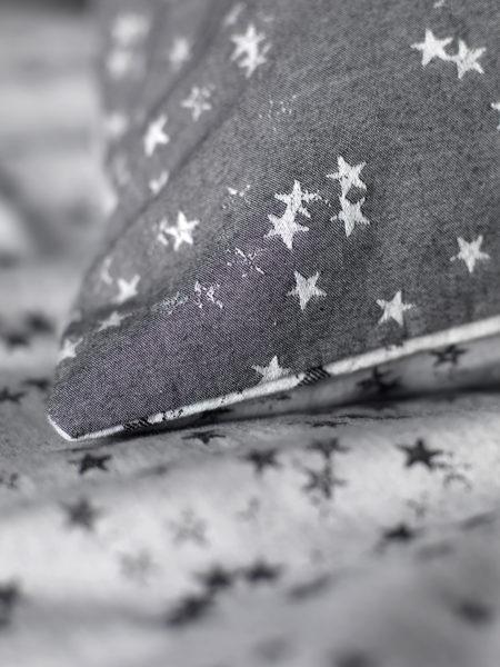 Stars Charcoal Pillowcases