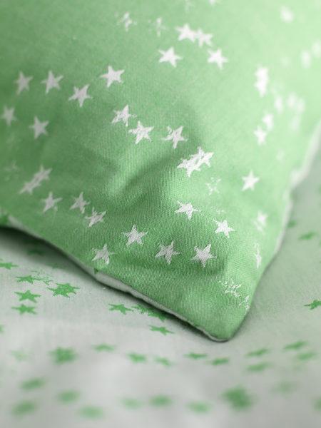 Stars Green Pillowcase