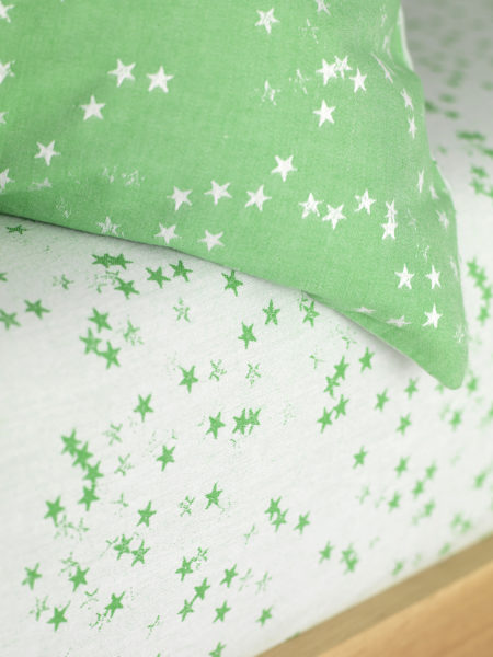 Stars Green Fitted Sheet