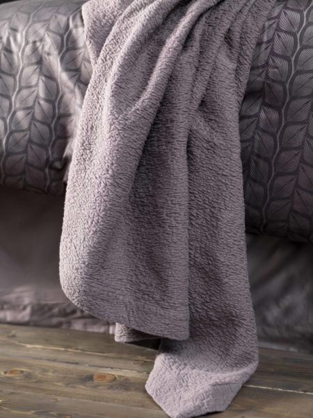 Steel Grey Bed Throw