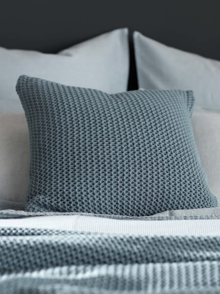 Knitted Teal Cushion Cover