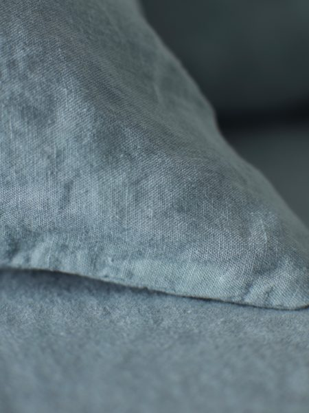 Teal 100% Linen Pillowcase