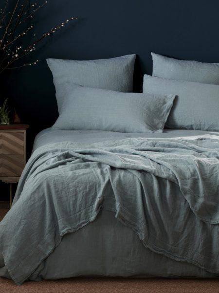 Etonnant Teal 100% Linen Bed Linen