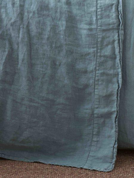 Teal 100% Linen Flat Sheet