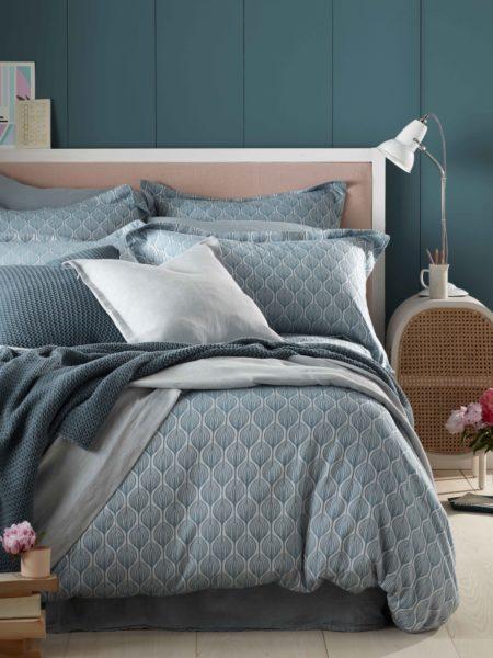 Teasels Teal Bed Linen