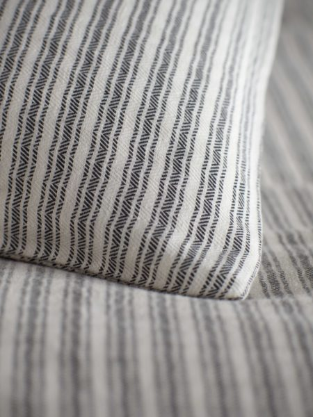 Ticking Stripe Grey Bed Linen