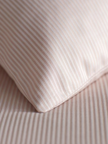 Tiny Stripe Blush Pink Pillowcase