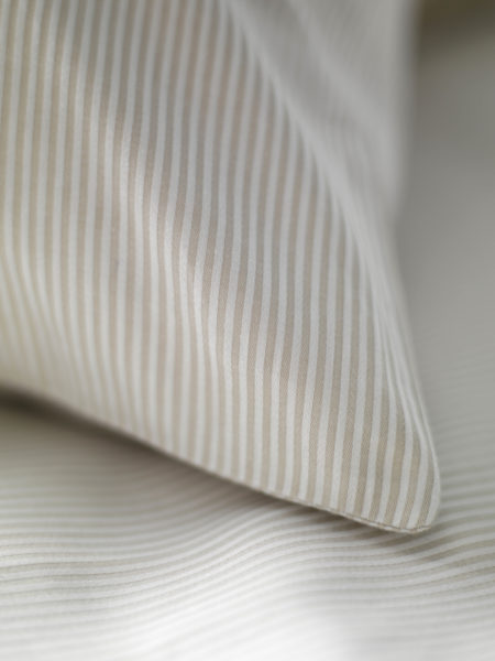 Tiny Stripe Coffee Cream Pillowcases