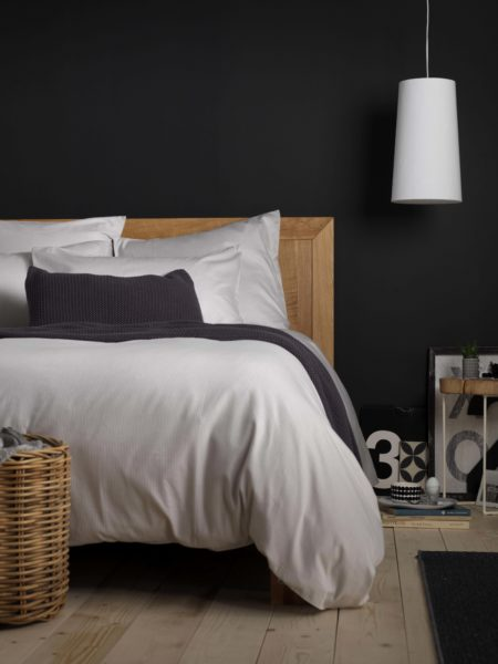 Tiny Stripe Dove Grey Duvet Cover