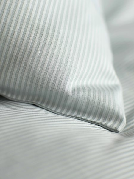 Tiny Stripe Duck Egg Pillowcase