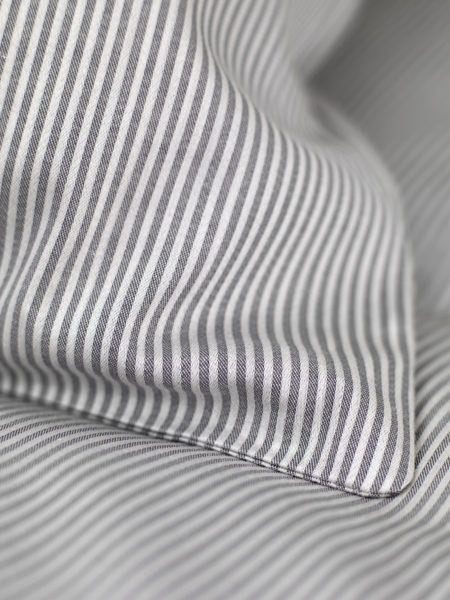 Tiny Stripe Graphite Grey Bed Linen