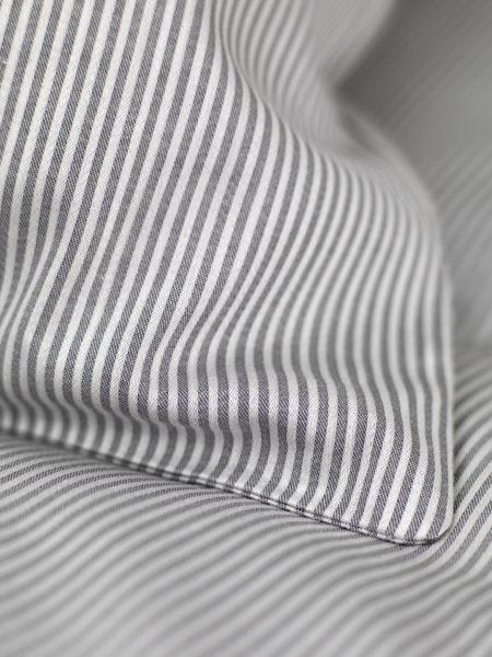 Tiny Stripe Graphite Grey Bed Linen