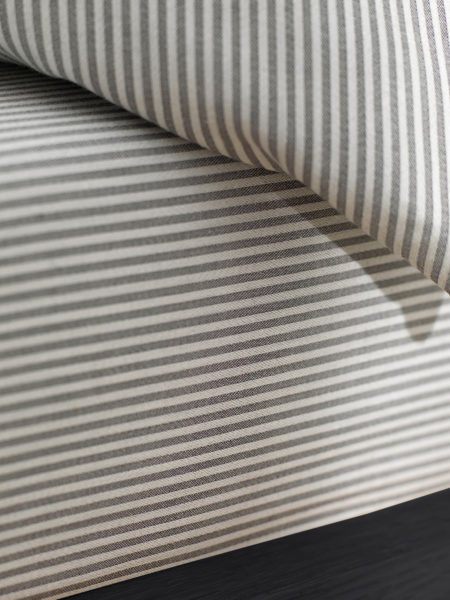 Tiny Stripe Graphite Grey Fitted Sheet