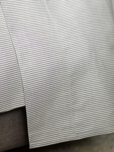 Tiny Stripe Graphite Grey Flat Sheets 100 Cotton