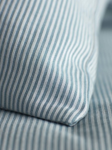 Tiny Stripe Teal Pillowcase