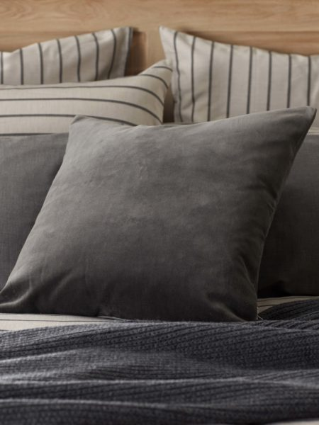 Velvet Pewter Grey Cushion Cover