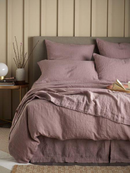 Vintage Rose 100% Linen Bed Linen