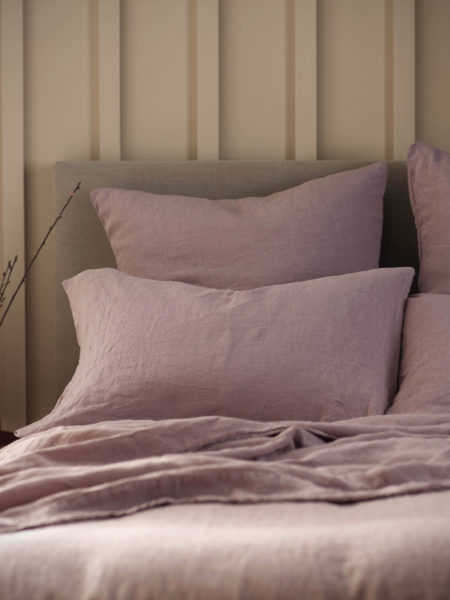 Vintage Rose 100% Linen Housewife Pillowcase